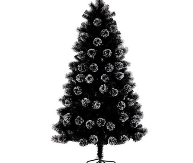 Christmas Cm Bavarian Frosted Tree Black