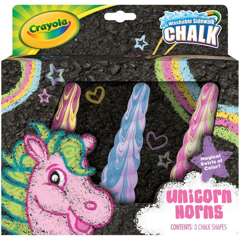 crayola unicorn chalk 3 pack  big w