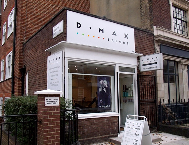 DMAX Salons Identity Design Big Web Company