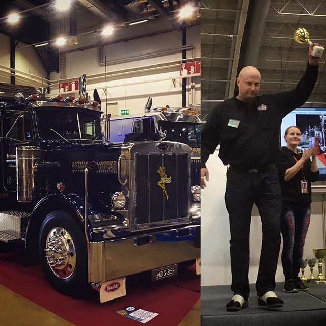 ...and Kuhmonen Trucking's Peterbilt 359 from our team won the third prize in trucks category! Congrats!