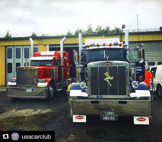Friday night at #pieksämäki, some badass trucking going on 😎at @usacarclub