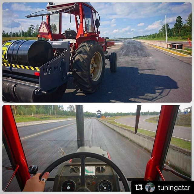 Repost from @tuningatar - Race track preparations under construction at Motopark Raceway in Virtasalmi, Pieksämäki. There's gonna be some badass drag racing this weekend by @fhrary.