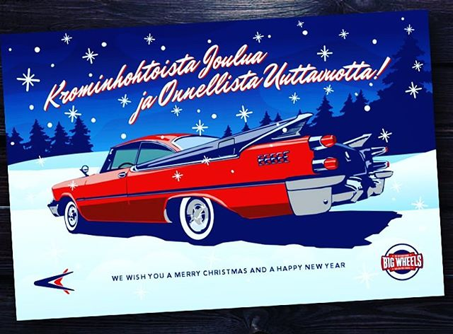 Big Wheels Events toivottaa krominhohtoista joulua! We wish a sparkling good Christmas to everyone!