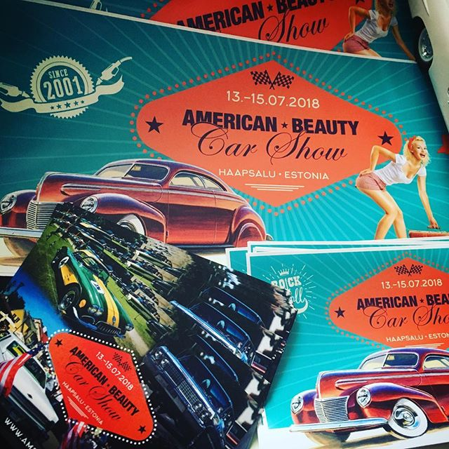 Awesome! We got some promotional items from the southern neighbors, the best American car event in the Baltic region,  @americanbeautycarshow of Haapsalu, Estonia. See you there!