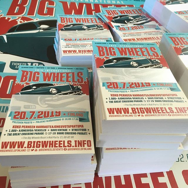 First lot of Big Wheels 2019 flyers and posters have arrived! Here we go again!