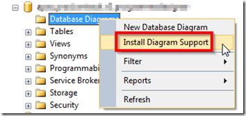 How to store a SQL Server database diagram into a file and share it