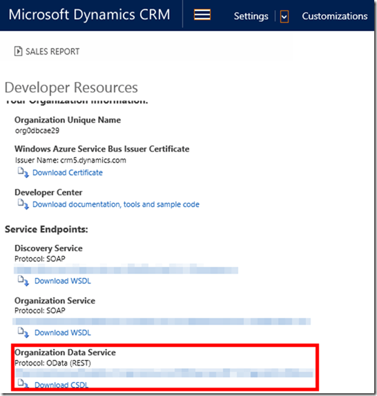 Dynamics CRM OData for Power BI 3