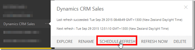 Dynamics CRM and Power BI 2