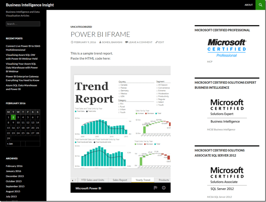 Power BI and iFrame 09