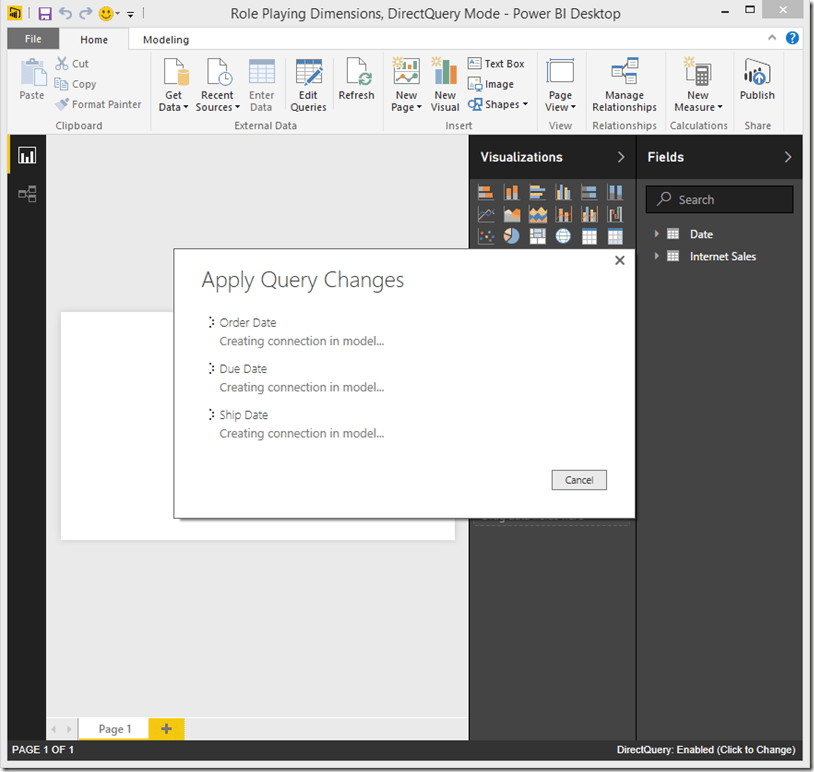 Power BI Desktop Query Changes