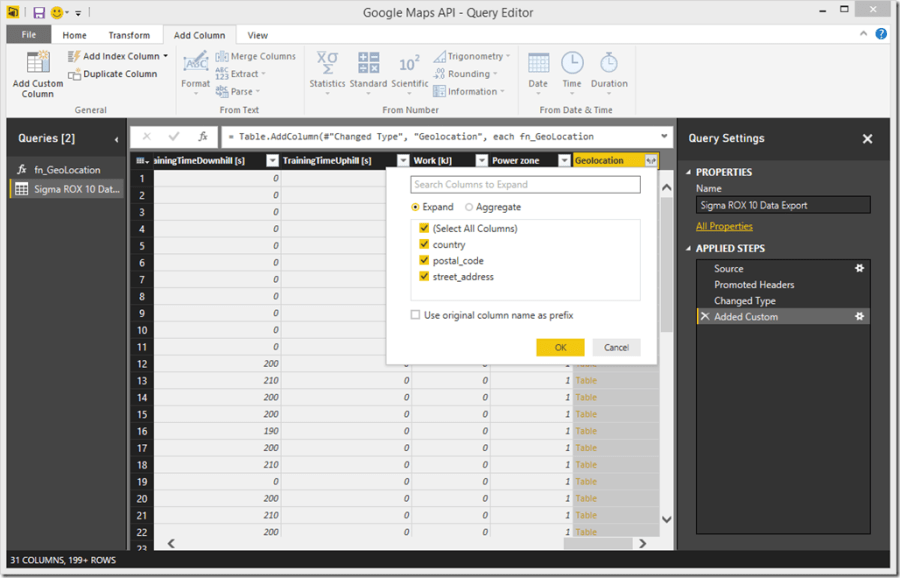 Power BI Expand Complex Column 2
