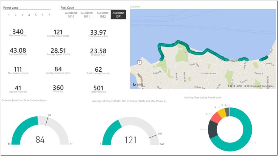 Power BI and Google Maps API
