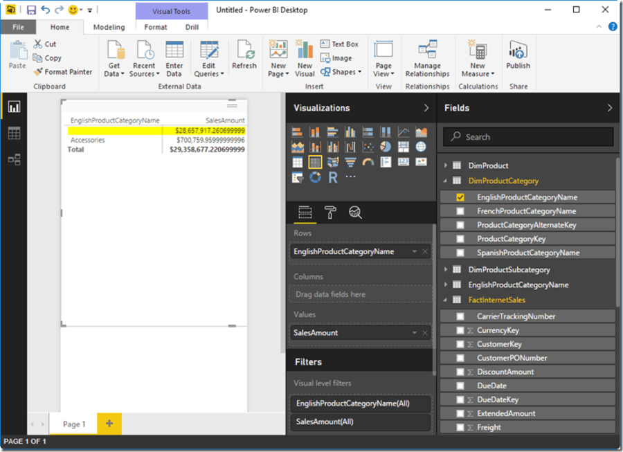 Power BI Desktop Query Filter