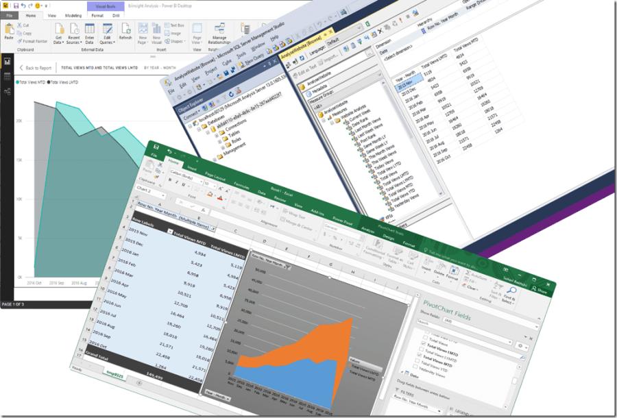 Power BI Desktop Excel SSMS