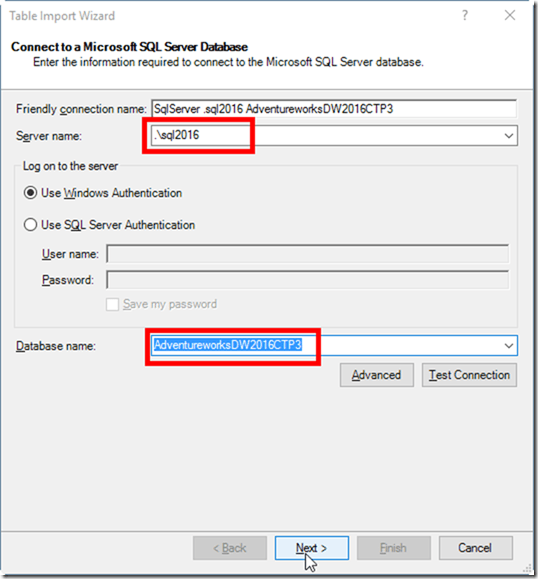 Power Pivot Get Data From SQL Server