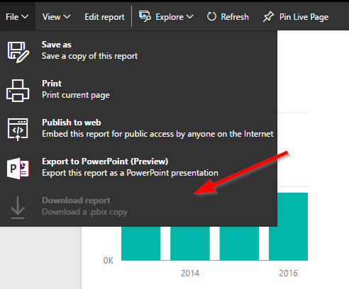 Inactive Download report from Power BI Service
