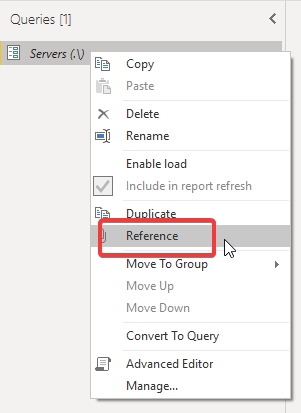 Referencing query parameters in Power BI Query Editor