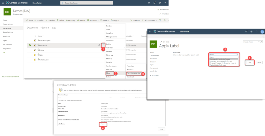 Apply Retention Labels to PBIX Files in SharePoint Online