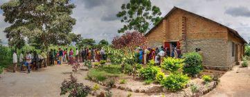 De Lutherse kerk waar de gasten te eten kregen