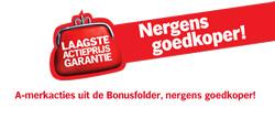 Laagste actieprijs garantie van Albert Heijn