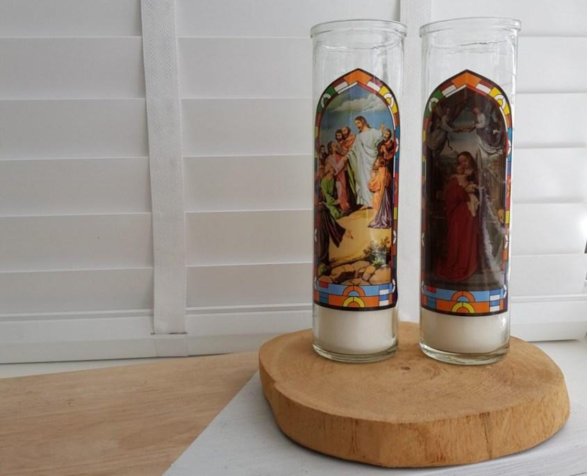 paasdecoratie maken, zelf kaarsen maken