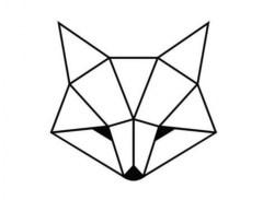Geometrische vos, nordic vos, nordic dierenhoofd