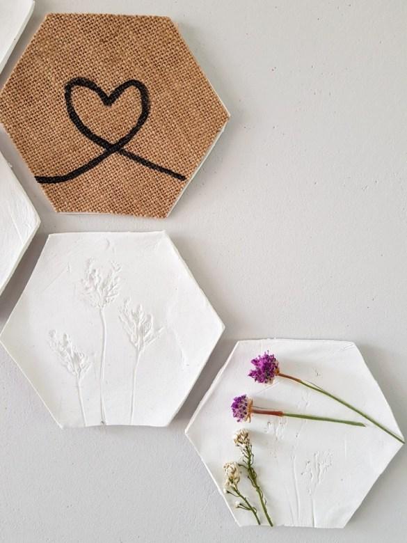 Hexagon droogbloemen
