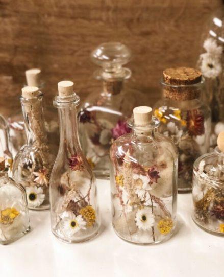 Daffies DIY droogbloemen in fles