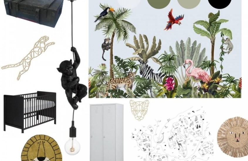 Moodboard kinderkamer maken: junglekamer!
