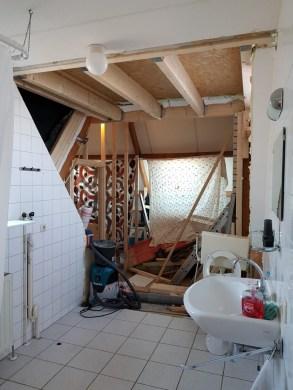 uitbouw op garage