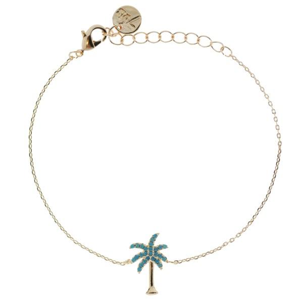 Bijoux 7bis Paris - Collier doré palmier collection Oasis