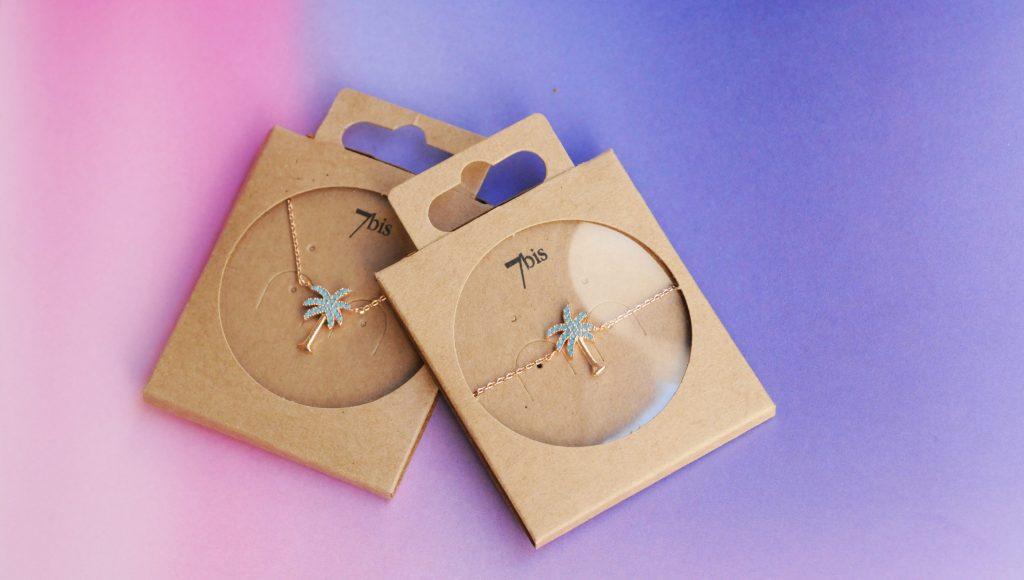 Bijoux 7bis Paris - Set collection palmier Collection Oasis