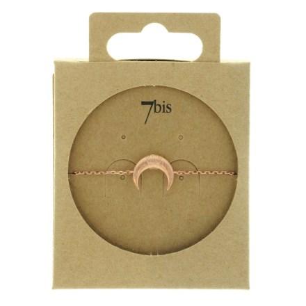 370756DORROS Bracelet Croissant De Lune Doré Rose Corne Ronde