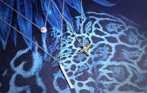 Accumulation Collier Tete-de-buffle Argent Indien Miniature avec 170086ARG Collier Geometrique Double Rang Rond Rectangle
