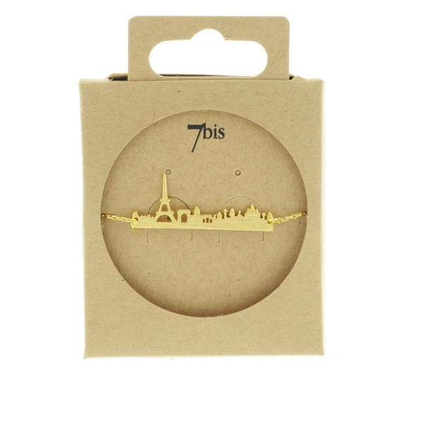 323796DOR Bracelet Skyline Doré Tour Eiffel Paris