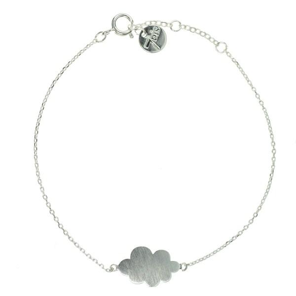 337344ARG Bracelet Nuage Argenté Plein Poetique