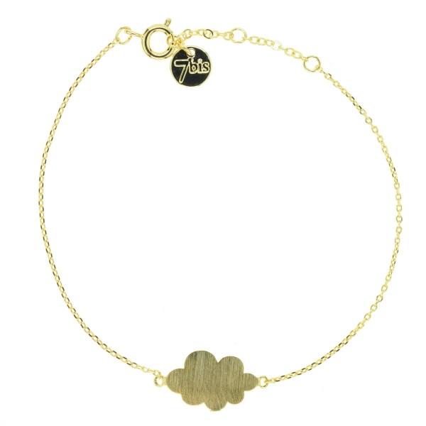 337344DOR Bracelet Nuage Doré Plein Poetique