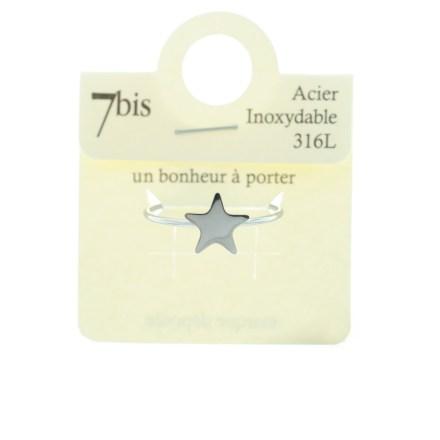 &870220ARGINX Bague Étoile Argenté Discret Acier Inoxydable
