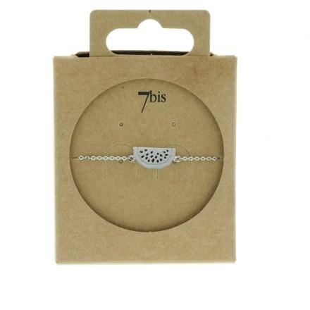 337338ARG Bracelet Pastèque Argenté Fruit Ludique