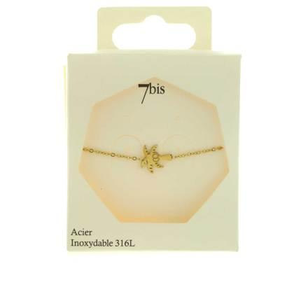 370291DORINX Bracelet Cocotier Doré Gravé Acier 316l