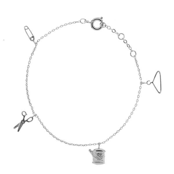 329381ARG Bracelet Couture Argenté Motif Minimaliste