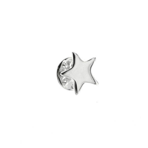 970984ARG Pin's Étoile Argenté Design Plein