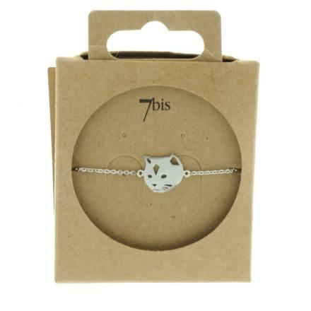 337546ARG Bracelet Chat Argenté Tête Mignonerie