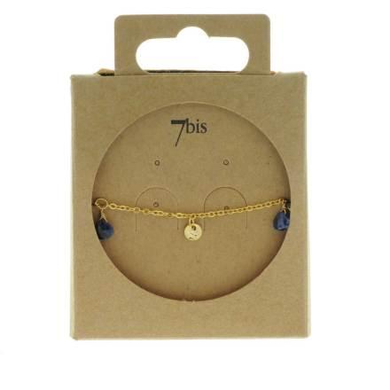 371277BLE Bracelet Pampille Bleu Goutte Précieuse