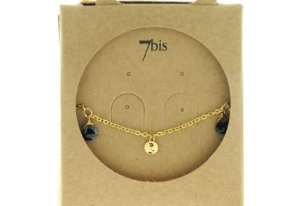 371277NOI Bracelet Pampille Noir Goutte Précieuse