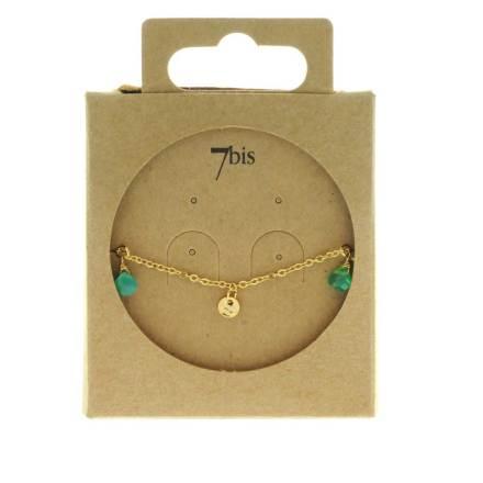 371277VER Bracelet Pampille Vert Goutte Précieuse