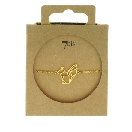 329501DOR Bracelet Ecureuil Doré Animal Géométrique
