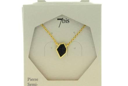171330NOIDOR Collier Black Paillettes Noir Doré Polygone Brillant