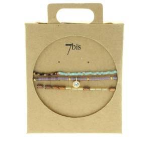 330010B bracelet mix and match-violet-bleu-marron-collection idees cadeaux