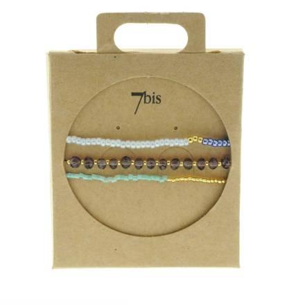 330010F bracelet mix and match marron bleu collection idees cadeaux